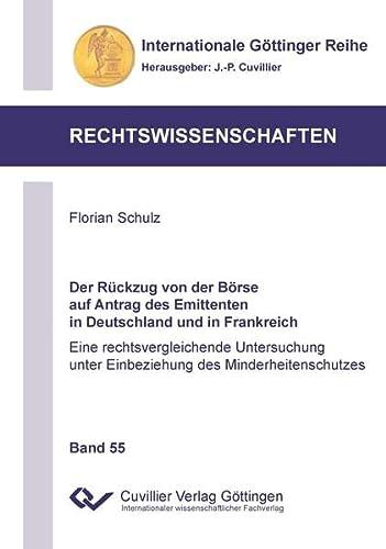 9783954048007: Der Rckzug von der Brse auf Antrag des Emittenten in Deutschland und in Frankreich