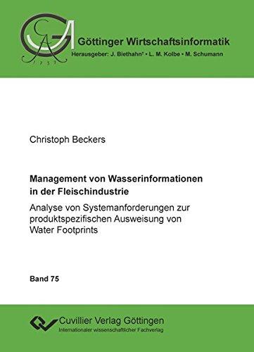 Management von Wasserinformationen in der Fleischindustrie: Christoph Beckers
