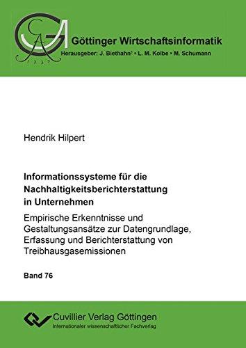 Informationssysteme für die Nachhaltigkeitsberichterstattung in Unternehmen: Hendrik Hilpert