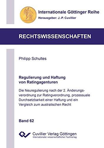 Regulierung und Haftung von Ratingagenturen: Philipp Schultes
