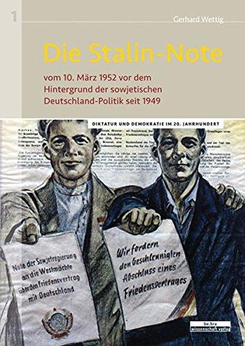 9783954100378: Die Stalin-Note: Historische Kontroverse im Spiegel der Quellen