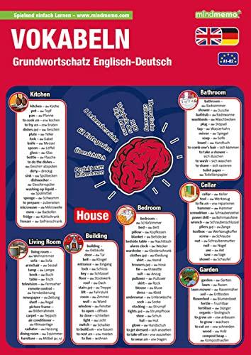 9783954130337: mindmemo Lernfolder - Grundwortschatz Englisch / Deutsch - 1100 Vokabeln - Lernhilfe - Zusammenfassung: Lernen ganz einfach - Lernhilfe - PremiumEdition (foliert)