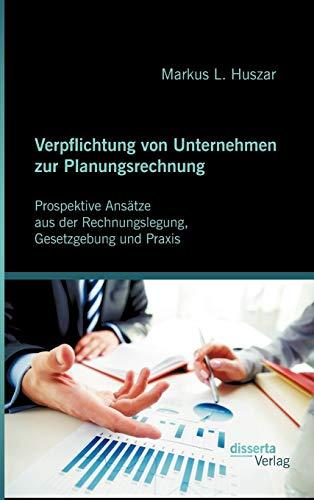 Verpflichtung von Unternehmen zur Planungsrechnung: Prospektive Ansätze aus der ...
