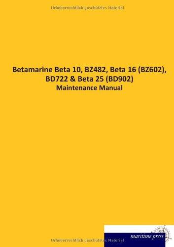 Betamarine Beta 10, Bz482, Beta 16 (Bz602), Bd722: N. N.