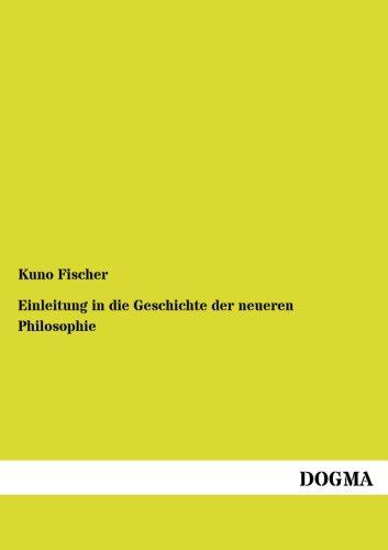 9783954545544: Einleitung in die Geschichte der neueren Philosophie (German Edition)