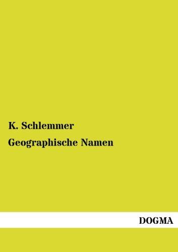 Geographische Namen: K. Schlemmer