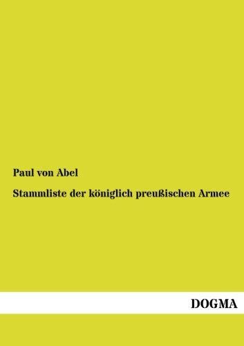 Stammliste der königlich preußischen Armee: Paul von Abel