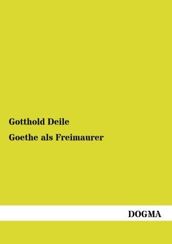 9783954548422: Goethe als Freimaurer (German Edition)
