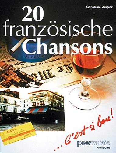 9783954560585: 20 Französische Chansons. Partitions pour Accordéon