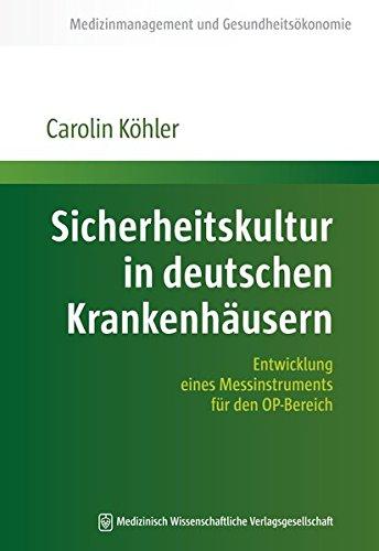 Sicherheitskultur in deutschen Krankenhäusern: Carolin Köhler