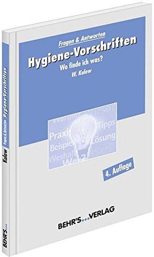 9783954680221: Hygiene-Vorschriften: Wo finde ich was?