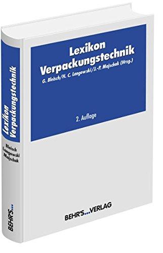 Lexikon Verpackungstechnik: Günter Bleisch