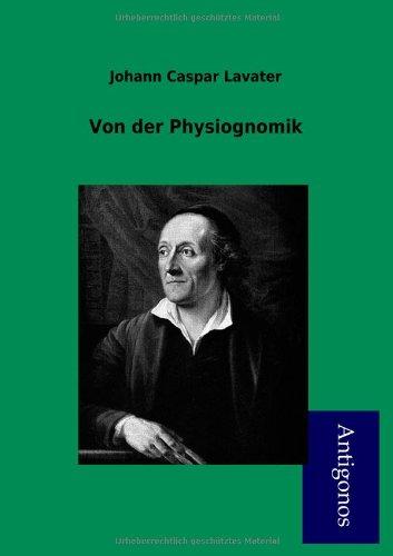 9783954722778: Von Der Physiognomik (German Edition)