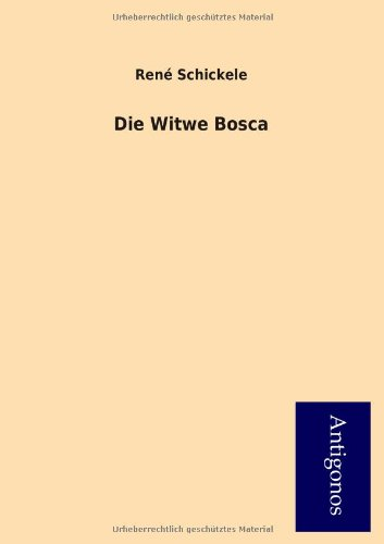 9783954724130: Die Witwe Bosca (German Edition)