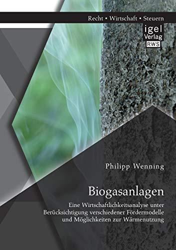 Biogasanlagen: Eine Wirtschaftlichkeitsanalyse unter Berücksichtigung verschiedener Fö...