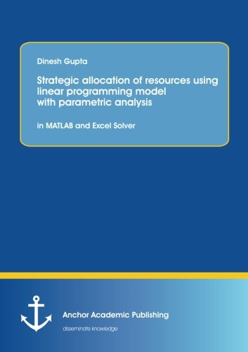9783954892808: Strategic Allocation of Resources Using Linear Programming Model with Parametric Analysis: In MATLAB and Excel Solver