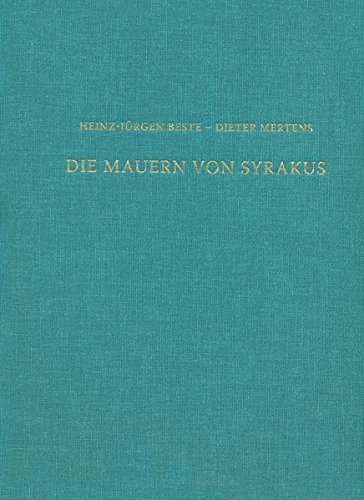 9783954900336: Die Mauern von Syrakus: Das Kastell Euryalos und die Befestigung der Epipolai (Sonderschriften Des Deutschen Archaologischen Instituts Rom) (German Edition)