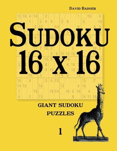 9783954974351: Sudoku 16 x 16: giant sudoku puzzles 1