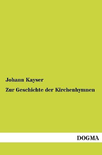 9783955072049: Zur Geschichte der Kirchenhymnen