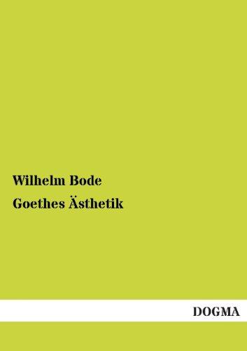 9783955075750: Goethes Ästhetik (German Edition)
