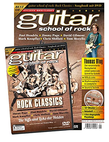 guitar school of rock: Rock Classics. Songbook mit DVD: Thomas Blug