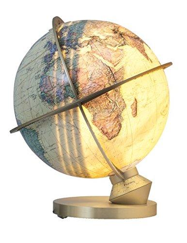 9783955242152: ROYAL Planet Erde, Leuchtglobus, Tag- und Nachtdarstellung, Daemmerungszonen, Jahreszeitenskala, ting kompatibel, handkaschierte 34 cm Acrylglaskugel, Messinghaube geschliffen T223472