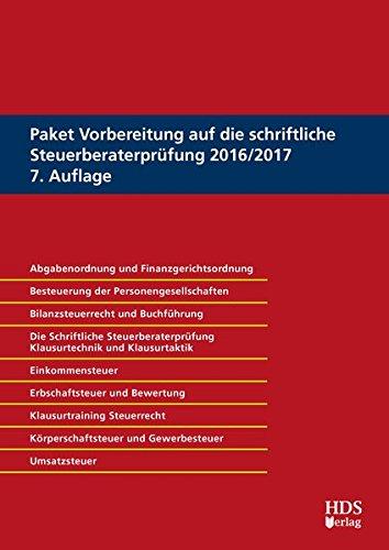 9783955541941: Paket Vorbereitung auf die schriftliche Steuerberaterprüfung 2016/2017