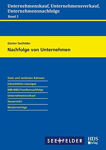 Nachfolge von Unternehmen (Paperback): Günter Seefelder