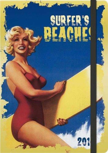 Surfers Beaches: Retro Graphic 2014 (Unisize Agenda)