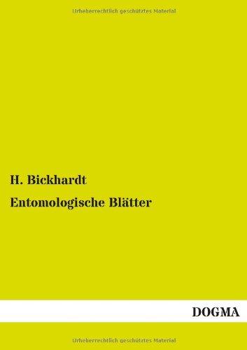9783955806187: Entomologische Blätter