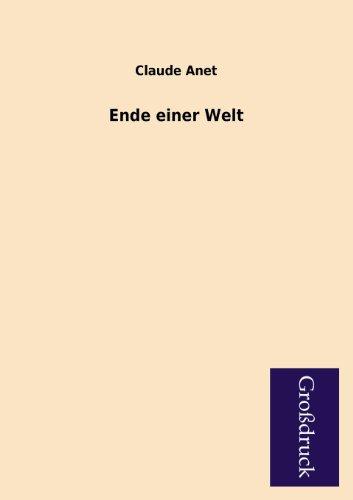 9783955841102: Ende Einer Welt (German Edition)