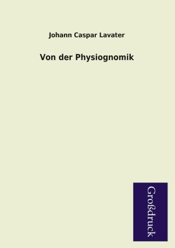 9783955841812: Von Der Physiognomik (German Edition)