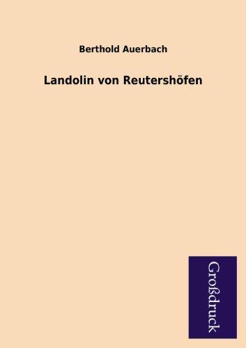 9783955843557: Landolin von Reutershöfen
