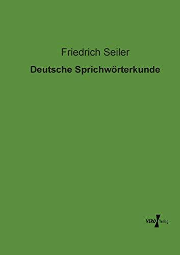 9783956102707: Deutsche Sprichworterkunde (German Edition)