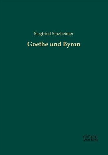 9783956180729: Goethe und Byron
