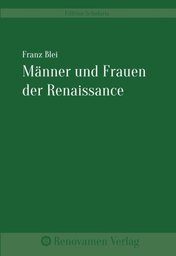 9783956210129: Männer und Frauen der Renaissance (German Edition)