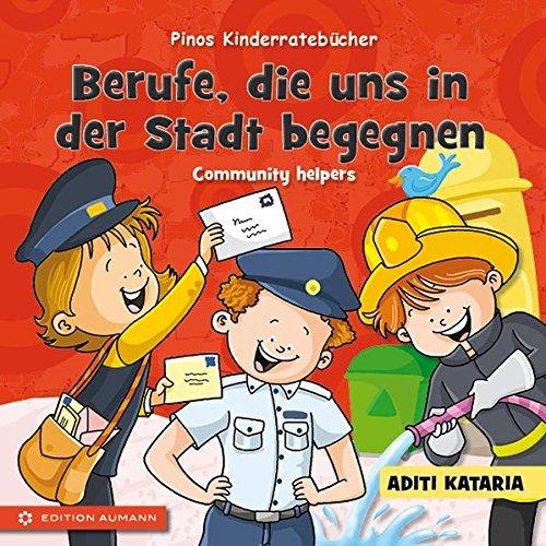 9783956260049: Pinos Kinderratebücher: Berufe, die uns in der Stadt begegnen - Community helpers