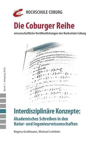 Interdisziplinare Konzepte: Akademisches Schreiben in den Natur-: Manfred Hampe, Samuel