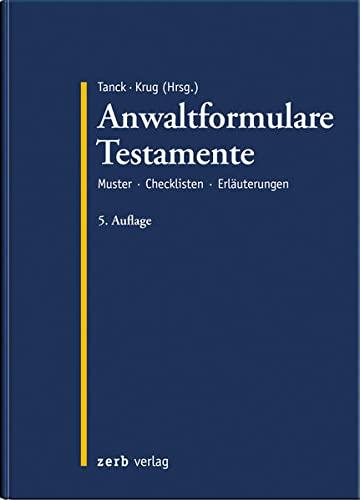 Anwaltformulare Testamente: Walter Krug