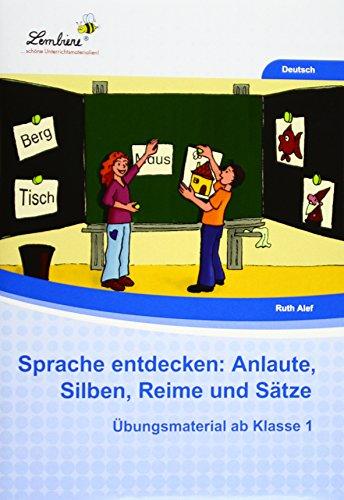 9783956646485: Sprache entdecken: Anlaute, Silben, Reime und Sätze: Grundschule, Deutsch, Klasse 1