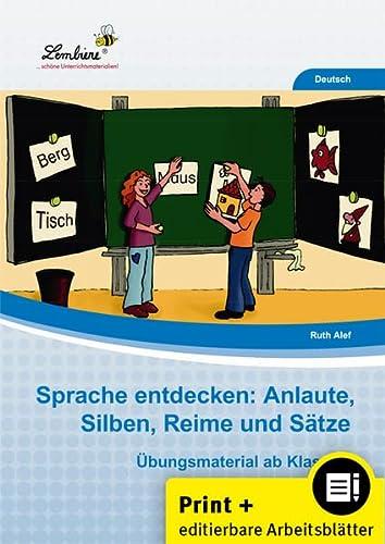 9783956646492: Sprache entdecken: Anlaute, Silben, Reime und Sätze: Grundschule, Deutsch, Klasse 1