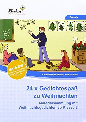 9783956647840: 24x Gedichtespaß zu Weihnachten (Set): Grundschule, Deutsch, Klasse 2-4