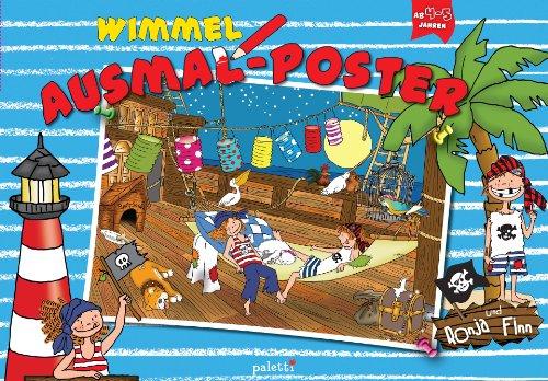 9783956740367: Wimmel-Ausmalposter - Ronja und Finn