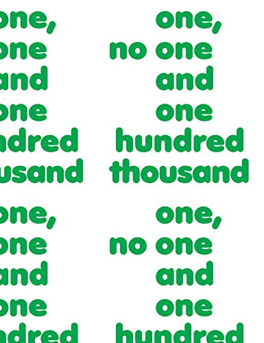 9783956792908: One, No One and One Hundred Thousand (Multilingual Edition)