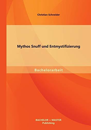 9783956841354: Mythos Snuff und Entmystifizierung (German Edition)