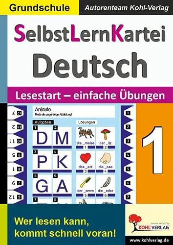 9783956866203: SelbstLernKartei Deutsch 1: Band 1: Lesestart - einfache Übungen