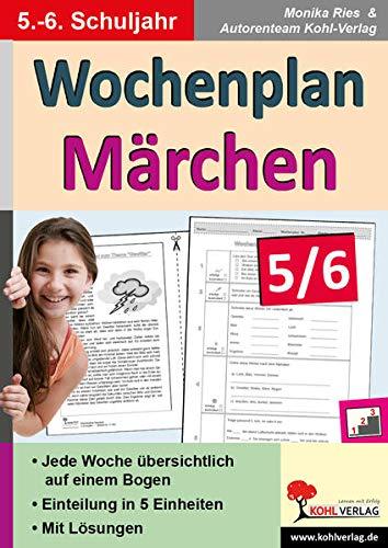 9783956866302: Wochenplan Märchen 5/6