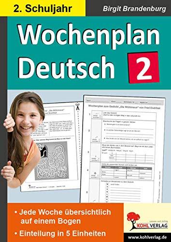 9783956868252: Wochenplan Deutsch 2. Schuljahr