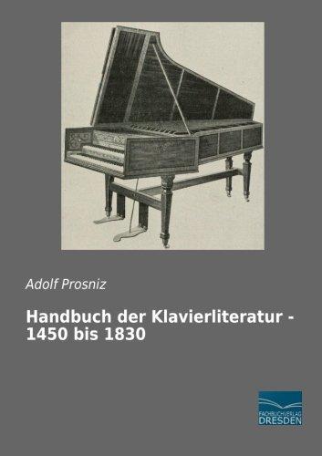 9783956926853: Handbuch der Klavierliteratur - 1450 bis 1830