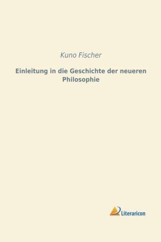 9783956970344: Einleitung in die Geschichte der neueren Philosophie (German Edition)